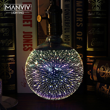 Buy 3D Stereoscopic Novelty LED Light Bulb 110V 220V E27 A60 ST64 G80 G95 G125 Fireworks Silver Plated Decorative Light Christmas for $5.90 in AliExpress store