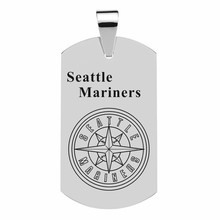 Stainless Steel Dog Tags Classical Men Necklace Seattle Mariners MLB Baseball Team Army ID Tag Pendant Necklace High Polished