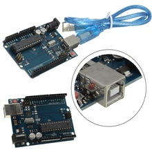 Electric Unit Module Modules UNO R3 Rev3 328 Development Board AT mega328P With free USB Cable For Arduino DIY Assembly Parts(China)