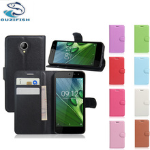 (OUZIFISH)Colorful High Quality Wallet Leather Case For Acer Liquid Zest 4G Z528 Z525 Flip Leather Cover Card Holder Case