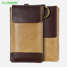 FLOVEME Universal PU Leather Case For iPhone X 8 7 6 6s Plus Cases 5.5 4.7 Inch Bag For Samsung Galaxy S8 S7 S6 Edge Back Cover(China)
