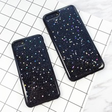 Buy Fashion Glitter Bling Star Case iphone 7 6 6S Plus Fundas Luxury Cartoon Starry Sky Stars Phone Cases Soft TPU GEL Cover New for $1.35 in AliExpress store