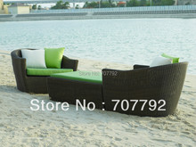 Rattan Synthethics Sofa outdoor rattan outdoor bed(China)