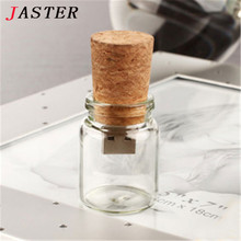 JASTER Wishing Bottle style usb flash drive drift bottle pendrives 8gb 32gb Romantic gifts for girl memory stick 4gb 16gb