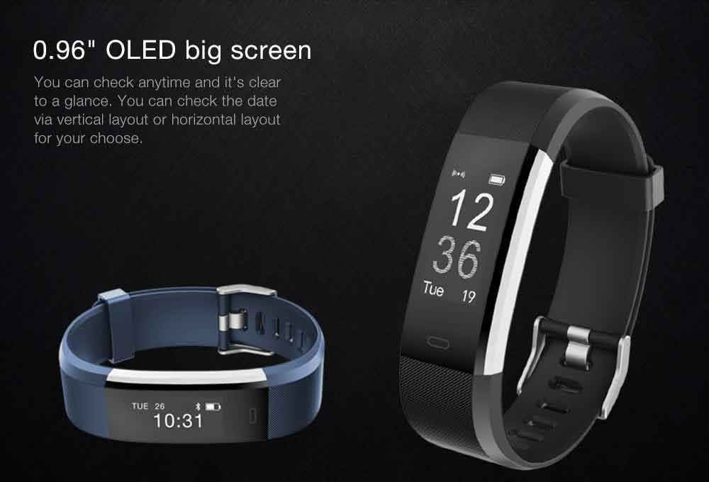 Hot Smart Wristband ID115 Plus Smart Band pedometer Fitness Bracelet Activity Tracker Mp3 Smart Bracelet Pk fitbit PK mi band 2 3