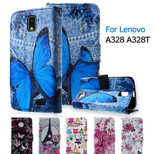 For Lenovo A 328 Phone Bag Callfree Elegant Stand PU Leather Flip Cover for Lenovo A328 A328T Colorful Case