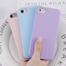 Original Soft Silicone Case for Apple iPhone 5 5S SE Cover Clear Pink Phone Cases Cute Candy Anti-knock rubber Coque(China)