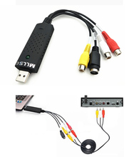 USB 2.0 Audio Adapter Cable Video Grabber Capture TV Tuner Cards Parts for win 7 8 10 32 64 win10(China)