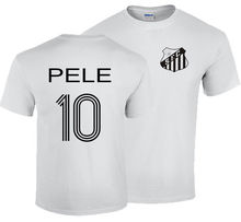 PELE T-SHIRT S- XXL BRAZIL SANTOS KING OF FOOTBALLER RETRO BRASIL CAMISETA Printed T Shirt Pure Cotton Men Top Tee(China)