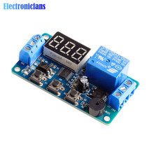 Digital LED Display Time Delay Relay Module Board DC 12V Control Programmable Timer Switch Trigger Cycle Module Car Buzzer Hot(China)