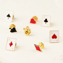 Steampunk alloy Metal Poker clubs hearts spades Brooch pins badge fashion girls women backpack Clothing accessories Scarf buckle