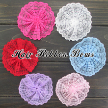 "Toplay 60pcs/lot 3.1""Handmade Girls Lace Flower Fabric Flowers For Corsage/Wedding Decoration  Boutique Hair Flower"