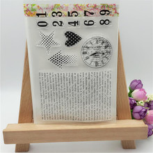 Mail Clock Heart Designs Transparent Clear Stamp DIY Silicone Seals Scrapbooking/Card Making/Photo Album Decoration Supplies(China)