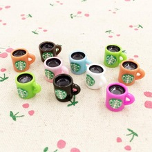 10 Pieces Kawaii 3D Resin Cup Fairy Garden Miniatures Terrarium Decoration Figurines DIY Craft For Dollhouse Accessories 12*15mm