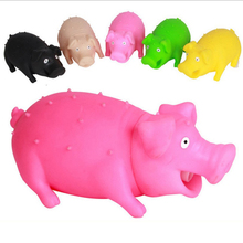 Squeaky Sound Rubber Screaming Pig Pet Squeak Toys Dog Cat Puppy Play Chew Relax Press Dolls juguetes para perros Size S M