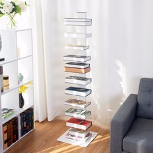 Giantex 59 Spine Book Tower 11 Shelf Bookcase Media