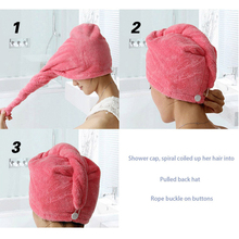 Bathroom Hair Hat Shower Hair Hat Dry Hair Hat Bath Hair Drying Microfiber Fabric Bath Cloth Towels Absorbent Towel