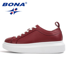BONA New Classis Style Women Walking Shoes Lace Up Outdoor Jogging Athletic Shoes Women Comfortable Height Increasing Sneakers
