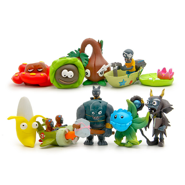 10pcs/lot Plants vs Zombies Game Series Ninth Generation PVC Toys Plants vs Zombies Action Figures<br><br>Aliexpress