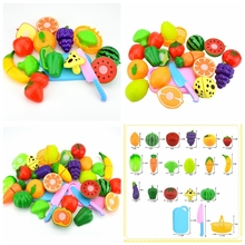 3Type Kitchen Cooking Toy Children DIY Fruit Greenstuff Beauty Plastic Kitchen Toy Role Play Toy Set Kids Educational Toys