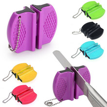 1pc Portable Outdoor Pocket Knife Sharpener Multi-function Ceramic Sharpener Whetstone Double File sharpeners Multicolor s4