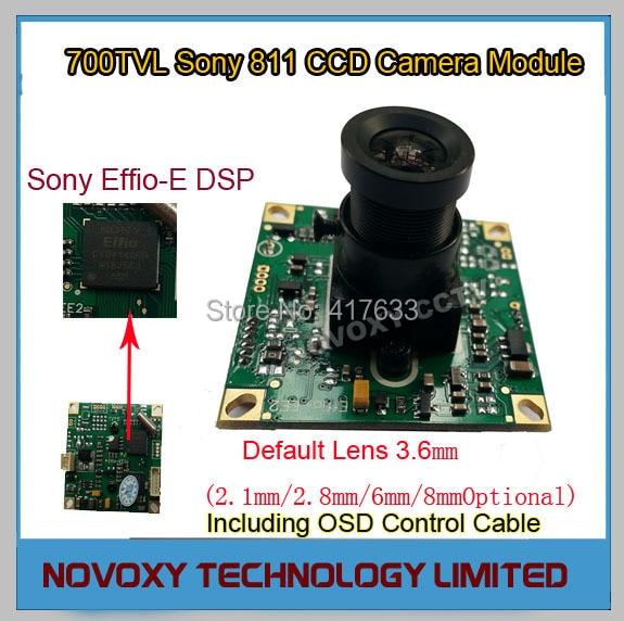 DIY 700TVL 3.6mm Fixed Iris Lens Sony 811 CCD+Effio-E DSP Analog CCTV PCB Board Camera Module OSD Control Cable Free Shipping<br><br>Aliexpress