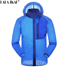 LALA IKAI Hiking Jackets Superdry Outdoor Thin Skin Clothes Anti-UV Suit For Fishing Hunting Climbing Treeking Jackets HMA0706-5(China)