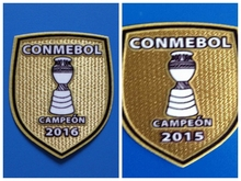 CONMEBOL CAMPEON Chile 2015 2016 champion patch football Print patches badges,Soccer Hot stamping Patch Badges