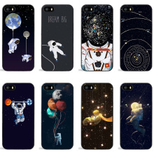 Luxury Space Starry Sky Star Hard PC Case For iPhone 7 Cases Cartoon Astronaut Moon Phone Back Cover Capa For iPhone 6 6s Plus 5
