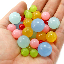 Wholesale 8mm 12mm 14mm 16mm 18mm 9 color, Acrylic Beads, Making jewelry diy beads, Jewelry Handmade necklace(China)