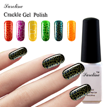 Saroline 2017 New Art gel Lacquer cheap 7ml Crackle Gel Nail Polish UV LED Light lucky Colorful Gel Cracking Shatter Nails(China)