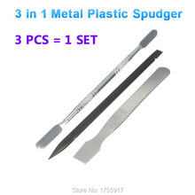 FREE SHIPPING 3 In 1 Metal Plastic Spudger Set Tools Repair Opening Pry Tool Kit For iPhone iPad For Samsung Cell Phone(China)
