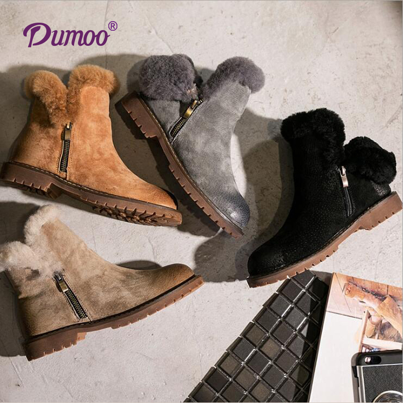 Snow Boots Fur Warm Winter Boots Black/Brown/Green High Quality Shoes Women Size 35-40<br><br>Aliexpress