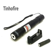 Tinhofire high Power Lazer Pointer Check Laser 300mW Green Laser Pointer Pen+ 1x 18650 4000mah Battery+ 1x Charger(China)