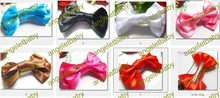 "Free Shipping 50pcs 3""Fashion shiny silk fabric hair bow hair clip/barrettes/Kids Ribbon hairpin/girl hair accessories HD32"