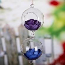 2017 New Fashion Clear Ball Glass Hanging Vase Bottle Terrarium Hydroponic Container Planter Pot Wedding Garden Home Decor