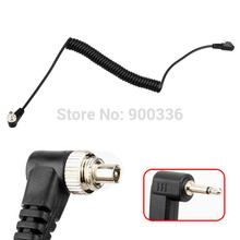 1pcs 2.5 mm 2.5mm to Male Flash PC Sync Cable cord length for canon nikon sony to flash light as yongnuo flash