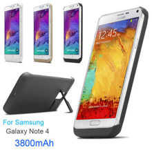 3800mAh power bank pack backup battery Charging case for Samsung galaxy Note 4 with USB charger cable line