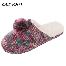 Buy GOHOM Women Winter Home Slippers Classic Colorful Home Shoes Non-slip Soft Winter Warm Woolen Slipper Indoor Bedroom Floor Shoes for $14.95 in AliExpress store