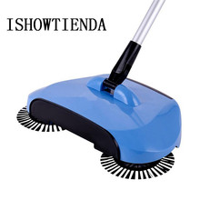 Mop broom 360 Rotary Magic Manual Telescopic Floor Dust Sweeper Handle Household Cleaning Hand Push Sweepers Home Hotel Use
