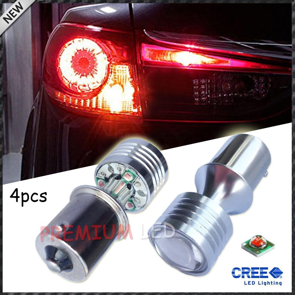 4pcs Brilliant Red Error Free BAU15S 7507 PY21W 1156PY CREE LED Bulbs For Taillamp Rear Turn Signal Lights<br><br>Aliexpress