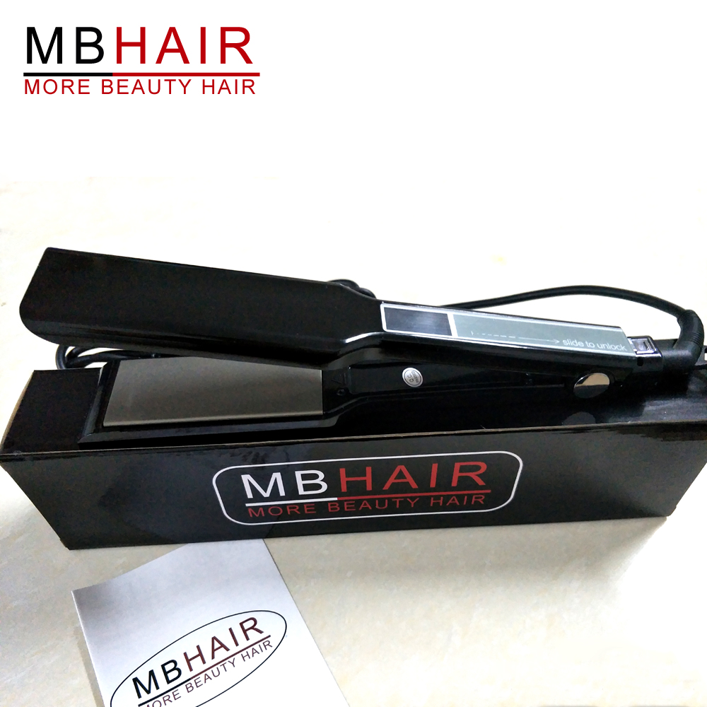 Professional Nano titanium Touch hair straightener high quality Touch screen fast flat iron electric straightening Fast Shipping<br>