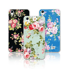 Luxury Floral Art Painted Phone Cases For Homtom HT16 Case Cover Flower fundas Homtom HT 16 HT16 5.0 inch+Free Gift(China)
