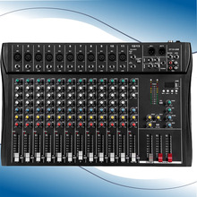 Professional 12-way mixer stage conference U disk MP3 recording multi-function band effect reverb(China)