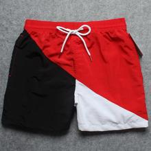 male contrast color board shorts men's beachwear with net lining bermudas hombre mens casual short homme beach clothing ZT02