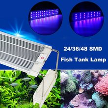 Smuxi Aquarium Fish Tank Lamp 24/36/48 5730SMD LED Tube Full Spectrum Grass Light Colorful Lighting 30/45/60cm AC220V