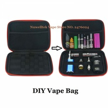 DIY E Cigarettes Travel Case Zipper Portable Carrying Case Small Storage Bag Durable for Mechanical Mod RDA RBA Vapor