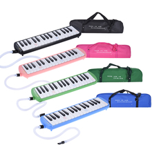 QM32A-8 32 Piano Style Keys Melodica Musical Education Instrument for Beginner Kids Children Gift with Carrying Bag Pink