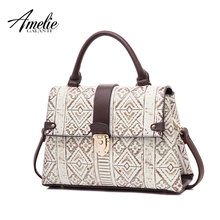 AMELIE GALANTI  Ladies' bag classic style special fabric geometric pattern embossed fashion For anyone for any occasion