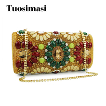 Fashion India Crystal Beaded Clutch Evening Bag Diamond Pearl Women Evening Bag Party Handbags(C015)(China)